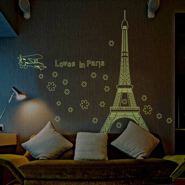 New product Luminous tower wall stickers