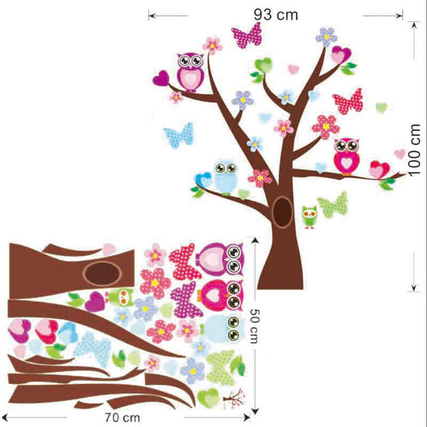 Cute owls tree wall stickers