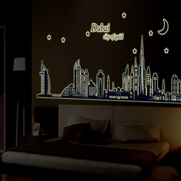 New product Luminous dubai silhouette sitting room wall stickers