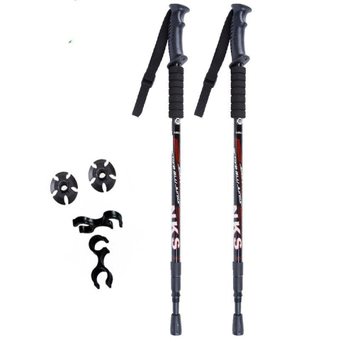 Anti Shock Hiking / Walking / Trekking Trail Poles - 1 Pair