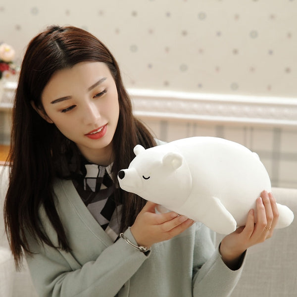 White Bear Plush Foam Partical Doll