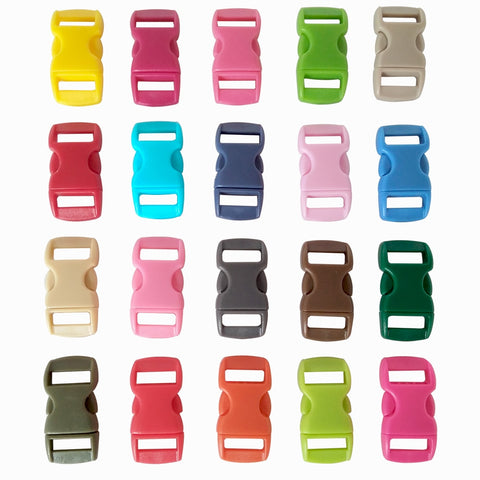 "100 pcs 3/8"" Contoured Curved Side Release Plastic Buckle"