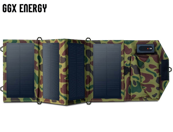 Solar Folding Panel Bank for Camping