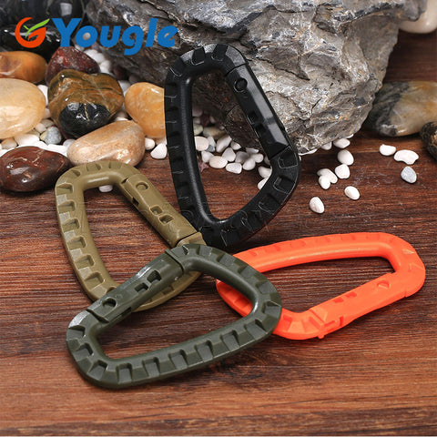5 PCS Outdoor Plastic Carabiners Hanging Buckle