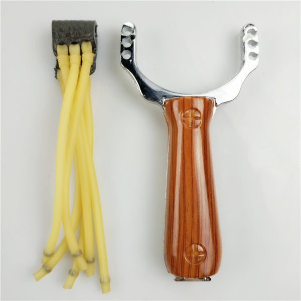 Aluminum Alloy Camouflage Sling Shot W | Leather Pocket