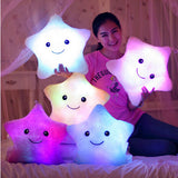 Led Light Pillow Hot Colorful Gleamy Stars Kids Toys