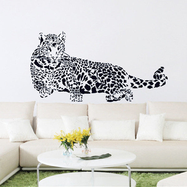 Black PVC Cheetah Leopard 3D Removable Wall Decals