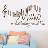 "Characters ""MUSIC"" Note Wall Sticker"