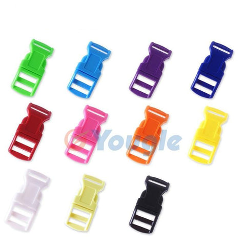 "100 pcs / lot  1/2"" Mix Colored Contoured Curved Side Release Buckles"