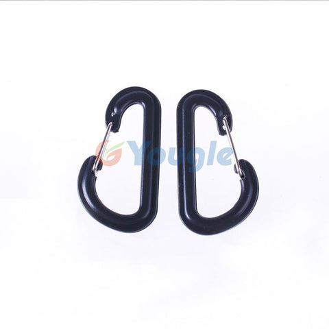10 pcs/lot Portable Camping Hiking D Shaped quick release Quick link Buckles