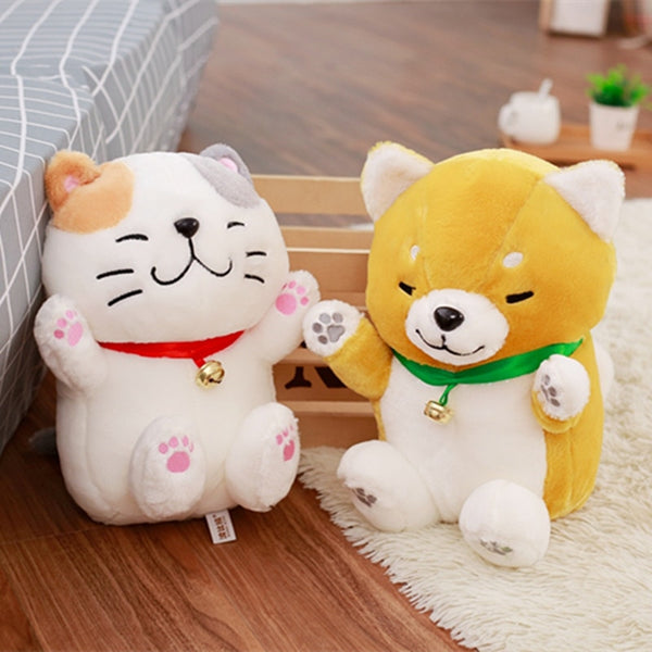 Cute Shiba Inu Dog & Lucky Cat Plush Toys