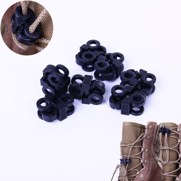 100 pcs 4mm Sports Shoelace Shoe Lace Stopper Rope