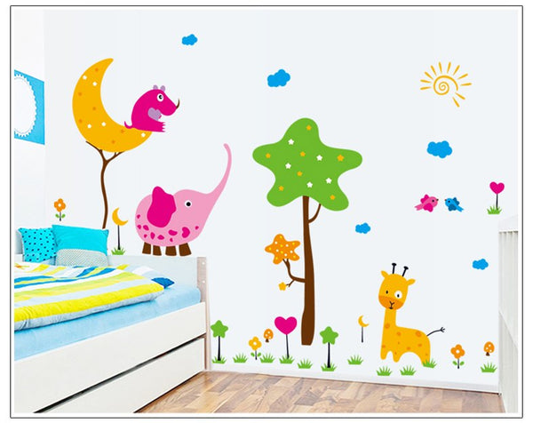 The new cartoon like children room household adornment wall stickers