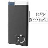 Slim 10000mAh Portable Power Bank with Dual USB Ports 3.1A Output and 2A Input