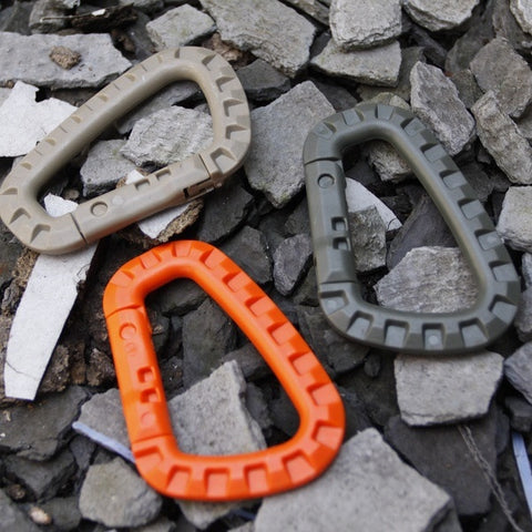 4pcs Outdoor Plastic Carabiners