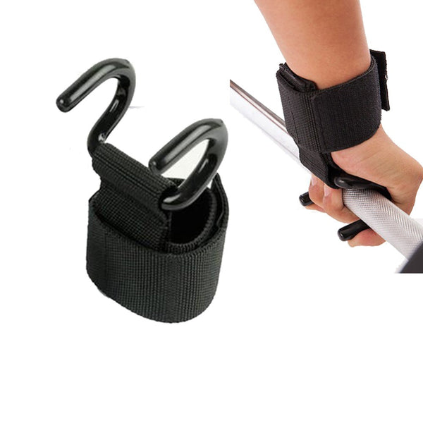 Weight Lifting Hook Hand Bar |  Gym Fitness hook Support Lift Grip belt