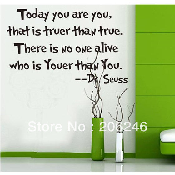 "Saying ""Today You Are You..."" English Decor"