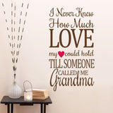 "Characters ""How Much Love"" wall stickers"