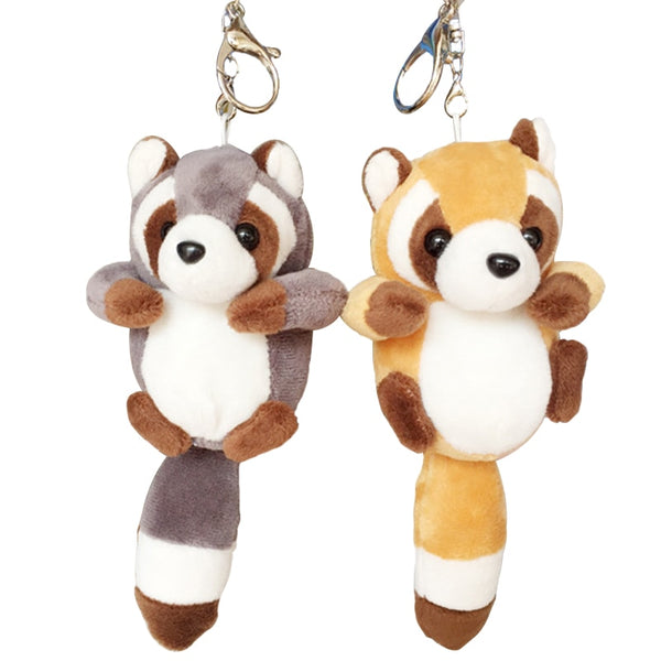Small Cute Raccoon Plush Bag Pendant