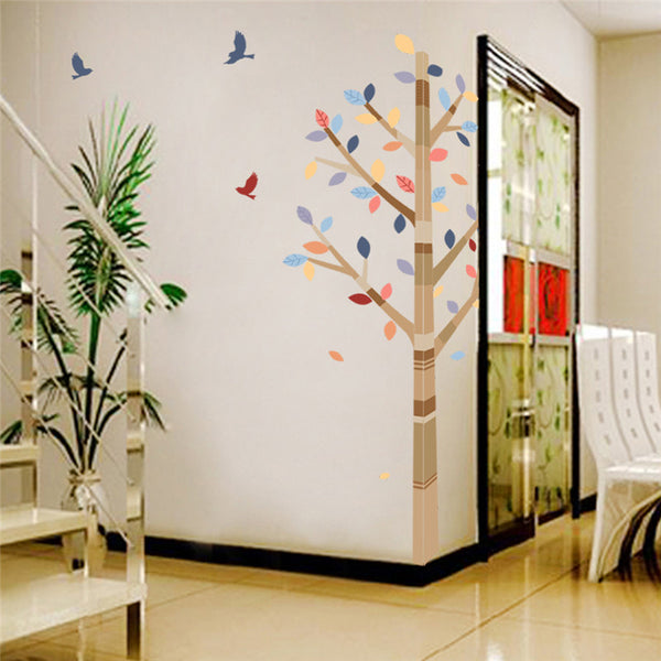 Forest Colorful Tree Birds Pvc wall stickers