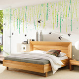 New willow tree swallows wall stickers