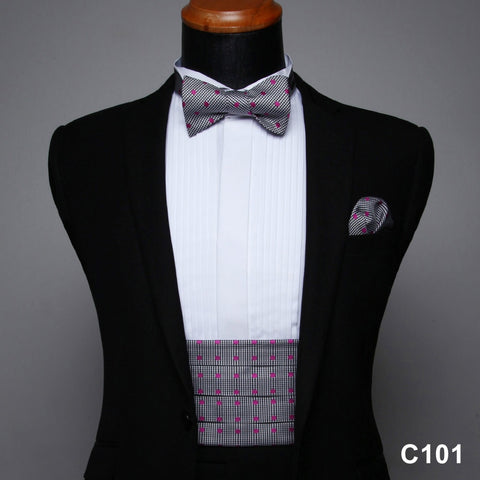 Men's Formal Cummerbund  & Pocket