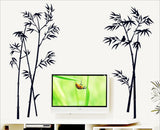 The new black bamboo wall stickers
