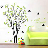 green trees pastoral wall stickers