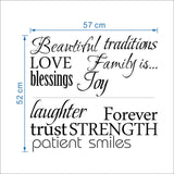 Family Words Wall Decal Set of 12