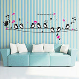 Happy Birds Song Music Wall Stickers
