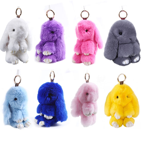 Cute Simulation Rabbit Fur Hanging Pendant Rabbit Keychain