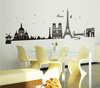 Background the Eiffel Tower wall stickers