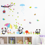 Oversize Cute Panda Wall Stickers Under the Tree Wall Decal