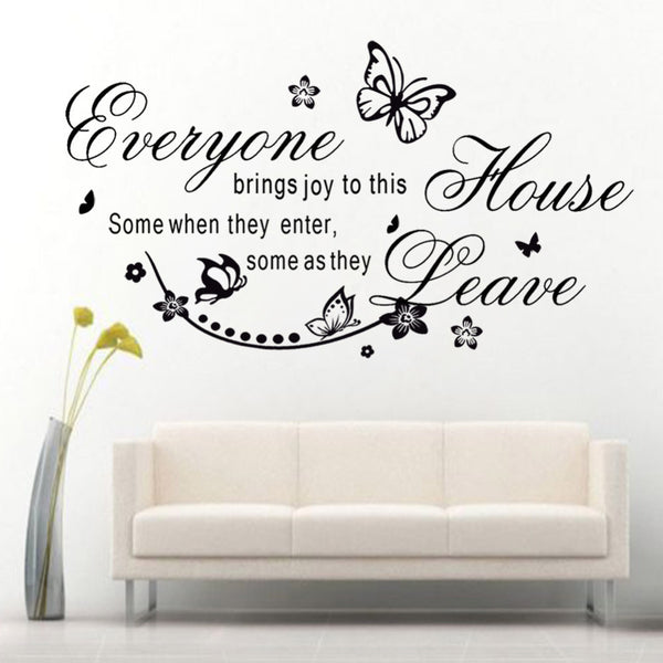 "Characters ""Everyone"" Butterfly Pattern wall stickers"