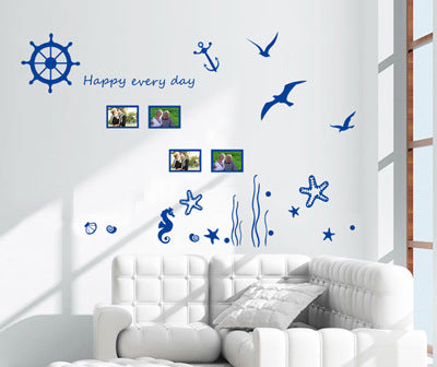 Marine corals seaweed frame collocation Can remove the wall household adornment wall stickers