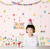 Holiday letters design of children room wall stickers