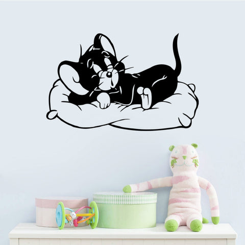 Black Cute Cats Cartoon Movie Kids Room Decal Wall Stickers
