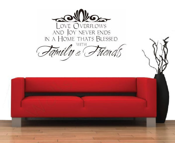 Word Family And Friend Wall Sticker