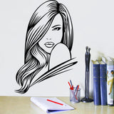 Mondern Long-haired girl Pattern Wall Stickers