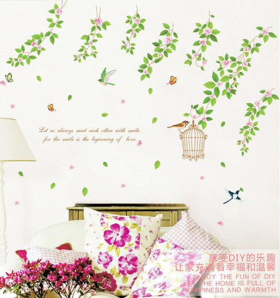 Charactizing a background wall stickers