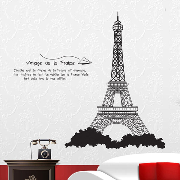 black The Eiffel Tower, the bedroom wall stickers