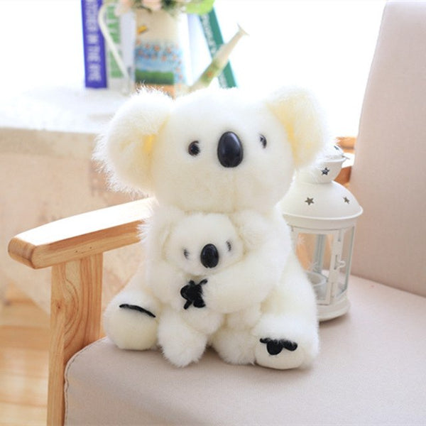 Super Cute Sitting Mother and Baby Koalas Plush Toys