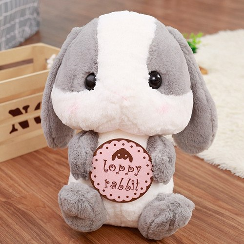 Cute Staffed Long Ears Rabbit Plush Toys Amuse Lolita Loppy Toy Kids Love Doll Soft Pillows Valentine's Gift for Girls