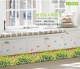 Can remove the transparent film The fence flowers and plants wall stickers