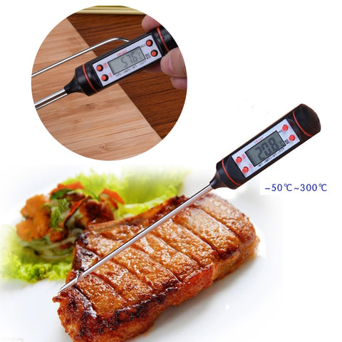BBQ Kitchen Mini Digital Cooking Thermometer Sensor