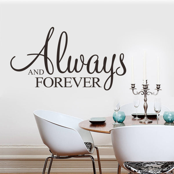 New ZY 8355 always and forever Custom wall stickers