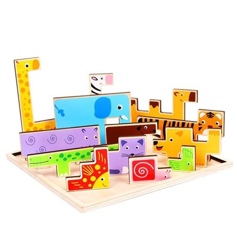 Puzzles Child Educational Toy for Children Tangram Jigsaw Board