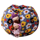 Stuffed Animal Storage Bean Bag Chair Portable Kids Toy