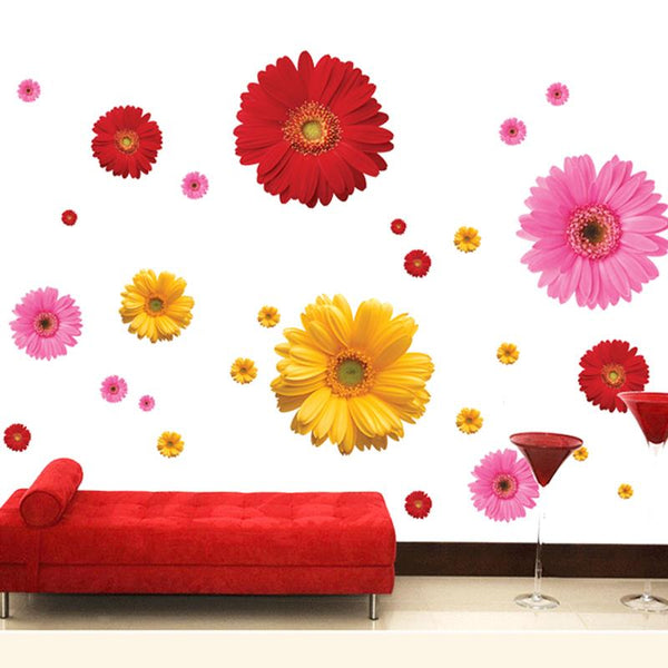 Colorful Flower Floral Wall Stickers