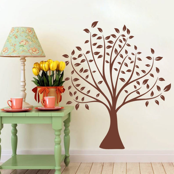 70*80cm simple classical brown tree wall stickers